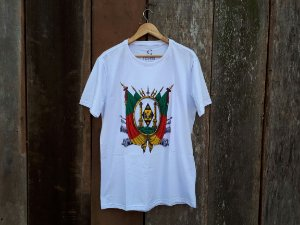 Camiseta branca Brasão