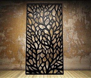 Cabeceira Cama Queen Leaf 160 x 80 cm mdf 4 mm Preta