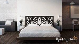 Cabeceira Cama Casal Mandala Estelar 140 cm x 70 cm 12 mm - Preto