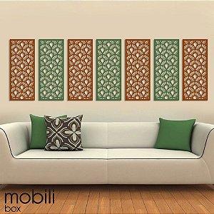 Painel Decorativo Cobogó Linha Botânica GIGLIO - mdf cru em 3 mm -  60 cm x 25 cm