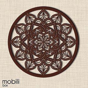 Mandala Clássica Emoldurada Lace Amor 48 cm em mdf cru