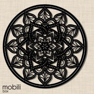 Mandala Clássica Emoldurada Lace Amor 90 cm em mdf cru
