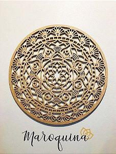 Mandala Clássica Flores Prosperidade 90 cm em mdf cru