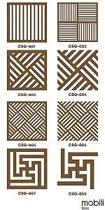 Azulejos Cobogó - Kit 90 peças painel vazado 15 x 15 Cm em mdf 3 Mm