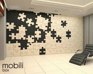Azulejos Cobogó - Kit 12 peças 45 x 45 cm Painel Quebra-cabeça em mdf 3 mm