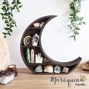 Nicho Místico Lua Crescente em MDF 40 x 40 x 9 cm