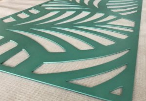 Cabeceira Cama Queen Costela de Adão 160 x 80 cm em mdf 4 mm Verde
