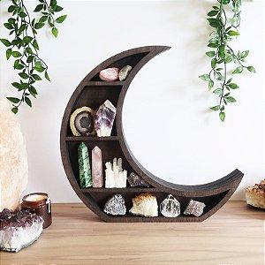 Nicho Místico Lua Crescente em MDF 42 x 42 x 12 cm