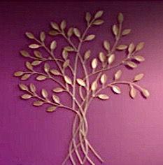 Quadro Árvore dos Desejos 50 x 60 cm em mdf dourado