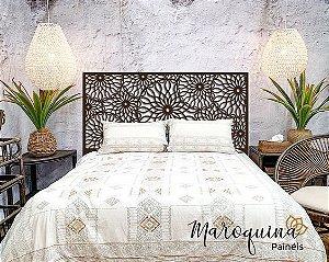 Cabeceira Cama King Marrakesh 195x98cm em mdf Natural 12 mm
