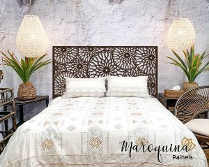 Cabeceira Cama King Marrakesh 195x98cm em mdf Natural 4mm