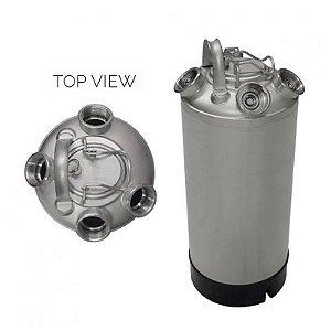 Barril Keg Postmix Inox 10 Litros + 4 Saídas Válvula S