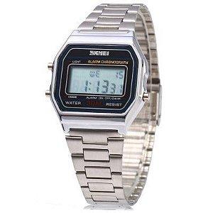 Relógio Digital Skmei 1123 Unissex Prata