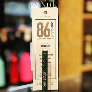 Bateria p/ Cartucho de Óleo e CBD 380mAh (rosca 510) - 86 Eighty Six