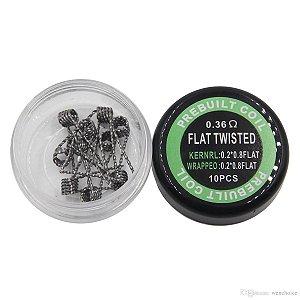 Coil / Resistência Prebuilt - FLAT TWISTED - 0.36 Ohm (Pack 10uni)