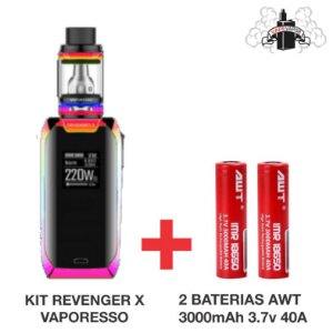 Combo Kit REVENGER X + 2 AWT 3000MAH 3.7V 40A