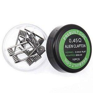 Coil / Resistência Prebuilt ALIEN Clapton - 0.45 OHM (Pack 10uni.)