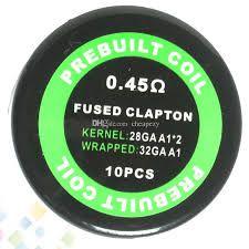 RESISTENCIA / COIL - FUSED CLAPTON - 0.45OHM (28GA A1)