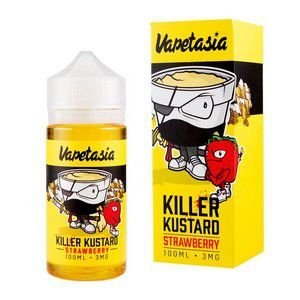 LÍQUIDO VAPETASIA - KILLER KUSTARD - STRAWBERRY