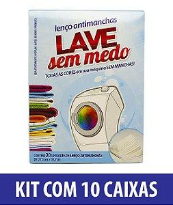 Super Kit Lave Sem Medo (10 caixas com 20 unidades cada)
