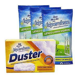 Kit Facilite Lenços Limpa Vidros e Duster
