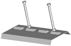 Ferramenta para apoio do cabeçote de motores Fiat. (RAVEN 141303)