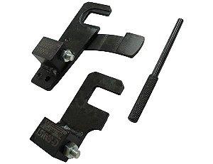 Conjunto de três ferramentas para posicionar em PMS as polias do comando de válvulas. (RAVEN 151009)