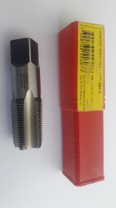 "Macho Manual NPT 3/4""x14 p/tubo Aço Rápido E-710"