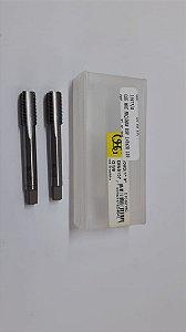 """Macho Manual BSP 1/8""""x28 p/tubo Aço Rápido 109D c/ 2 peças"""