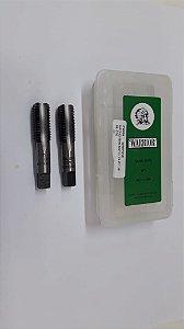 """Macho Manual BSP 1/4""""x19 p/tubo Aço Liga c/ 2 peças"""