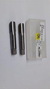"""Macho Manual BSP 1/4""""x19 p/tubo Aço Rápido 109D c/ 2 peças"""
