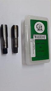 """Macho Manual BSP 3/8""""x19 p/tubo Aço Liga c/ 2 peças"""