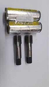 """Macho Manual BSP 5/8""""x14 p/tubo Aço Rápido E-119 c/ 1 peça"""