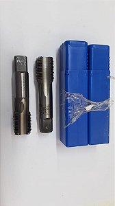 """Macho Manual BSP 5/8""""x14 p/tubo Aço Rápido c/ 3 peças"""