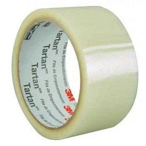 Fita Adesiva Transparente 45mm x 45 Metros - Caixa com 80 Peças 3M