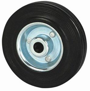 """Roda 8"""" Borracha - 150Kg"""