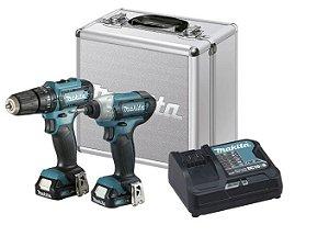 Kit Combo com 2 Parafusadeira Bateria 12V (HP333D+TD110D) com maleta CLX228SAX