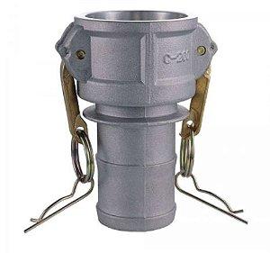 Acoplador Alumínio 1½x1½  fêmea/espigão
