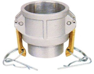 Acoplador Alumínio 3x3  fêmea/macho rosca externa