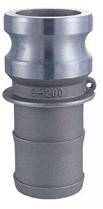 Adaptador Alumínio 2½x2½  macho/espigão