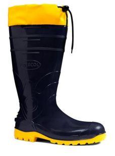 Bota PVC Cano Longo Azul/Amarela com Coejo Nº 36 CA-37455