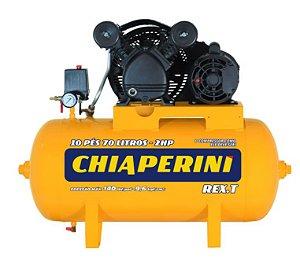 Compressor 10Pés 70Lts 140Lbs 2CV Monofásico 110/220V REX.T