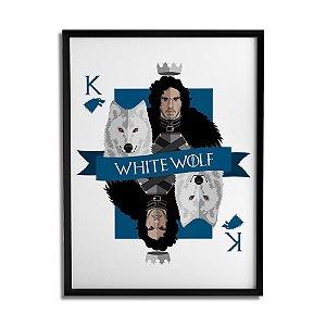 Quadro Decorativo WHITE WOLF A3 By Cleyton Braga - Beek