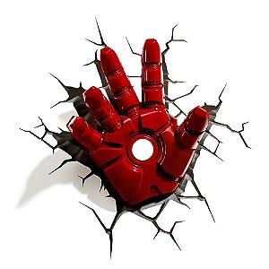 Luminária 3D Light FX Mão Homem de Ferro - Marvel