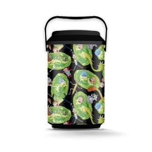 Cooler 10 Latas Portais - Rick And Morty