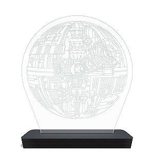Luminária LED Estrela da Morte - Star Wars