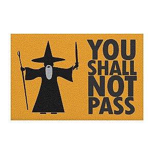 Capacho Not Pass - Senhor dos Anéis