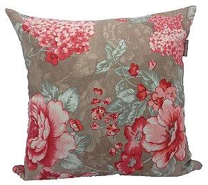 Almofada Jacquard Floral Rosa