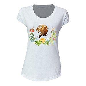 camiseta feminina signo Leao