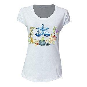 camiseta feminina signo Libra